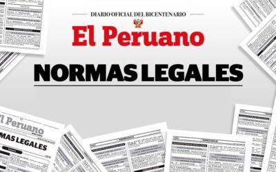 El Peruano: actualización semanal de normas legales (02/08/21 – 08/08/21)